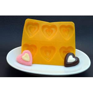 Heart Flexible Rubber Candy Mold