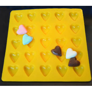 Hearts Flexible Rubber Candy Mold