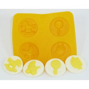 Baby Shower Asst. Rubber Candy Mold