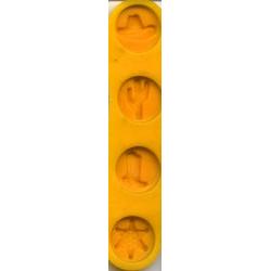 Western Asst. Flexible Rubber Candy Mold