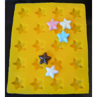 Stars Flexible Rubber Candy Mold