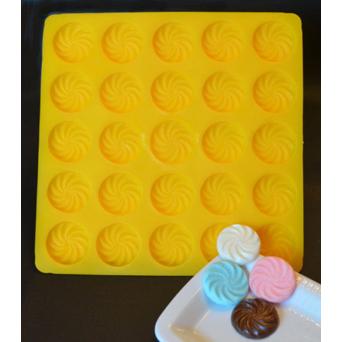 Swirl Flat Flexible Rubber Candy Mold