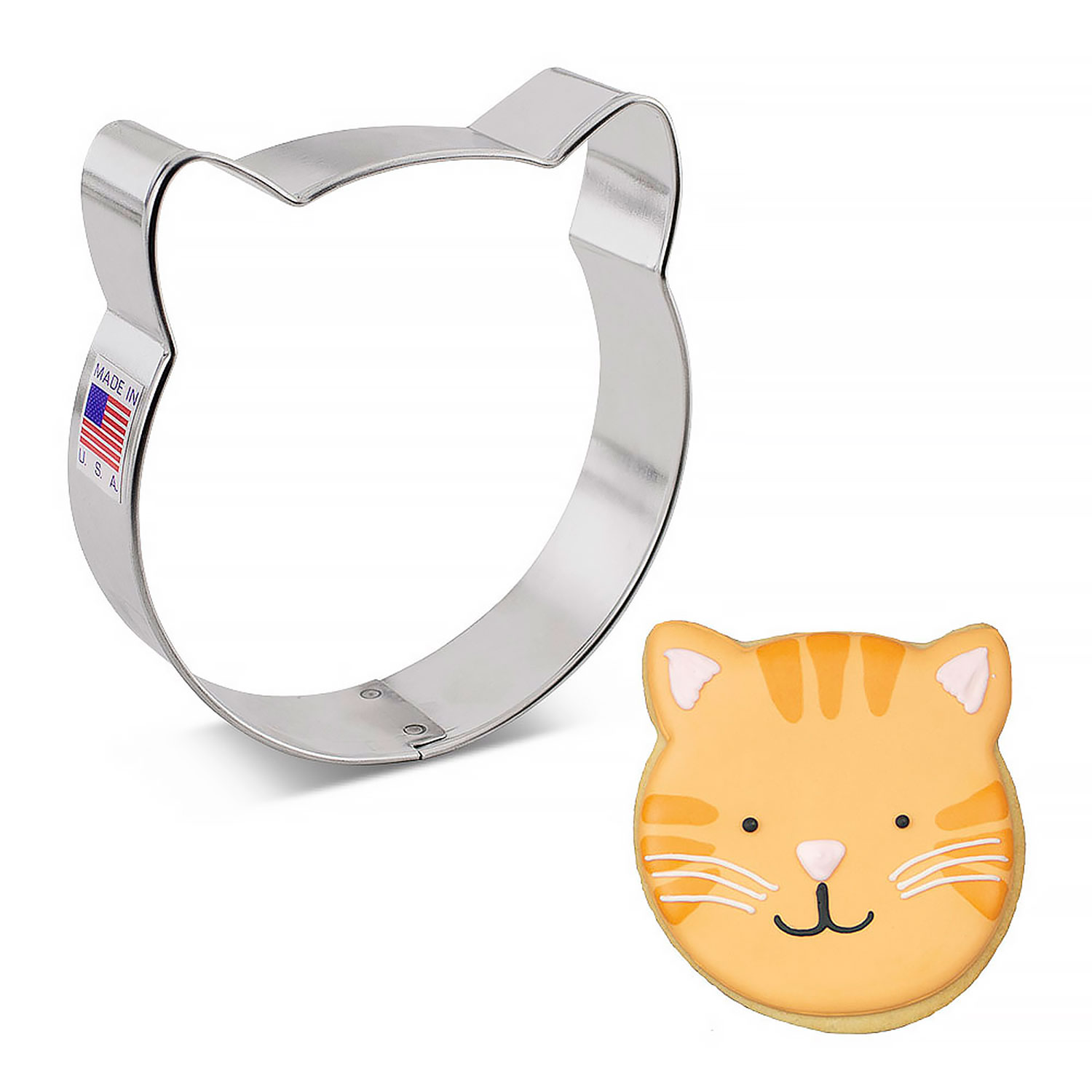 cat face cookie cutter acc7697 country kitchen sweetart