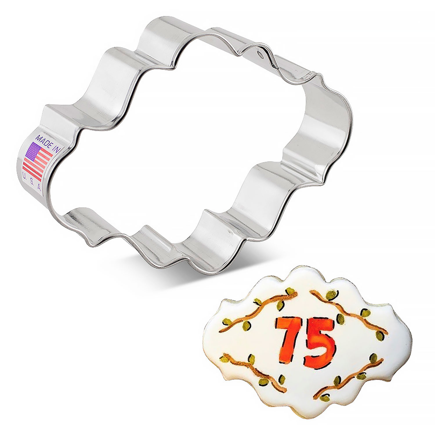 Oval Plaque Cookie Cutter