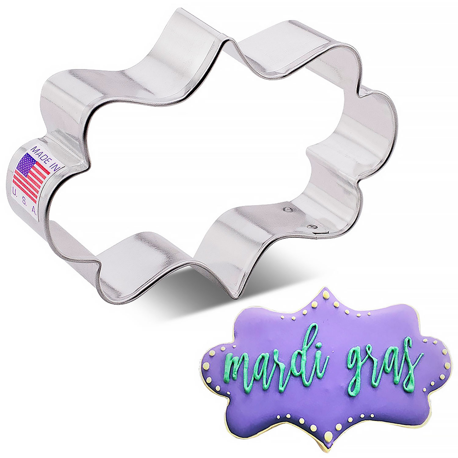 Fancy Plaque Cookie Cutter