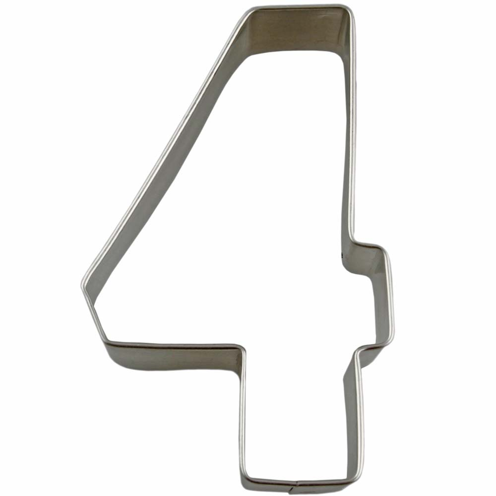 Collegiate Number 4 Cookie Cutter