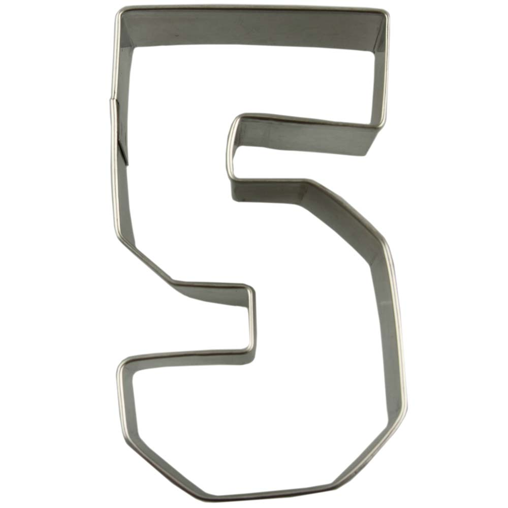 Collegiate Number 5 Cookie Cutter