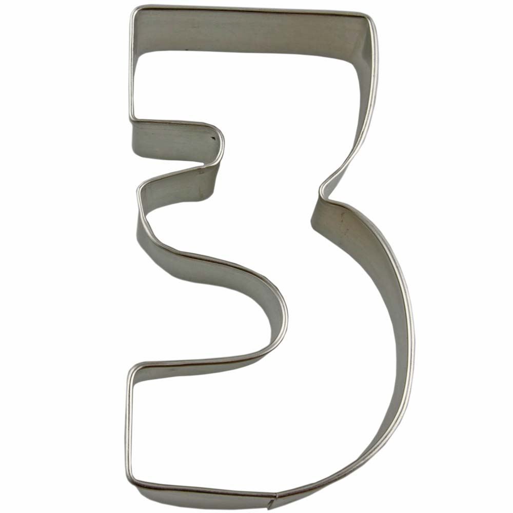 Collegiate Number 3 Cookie Cutter