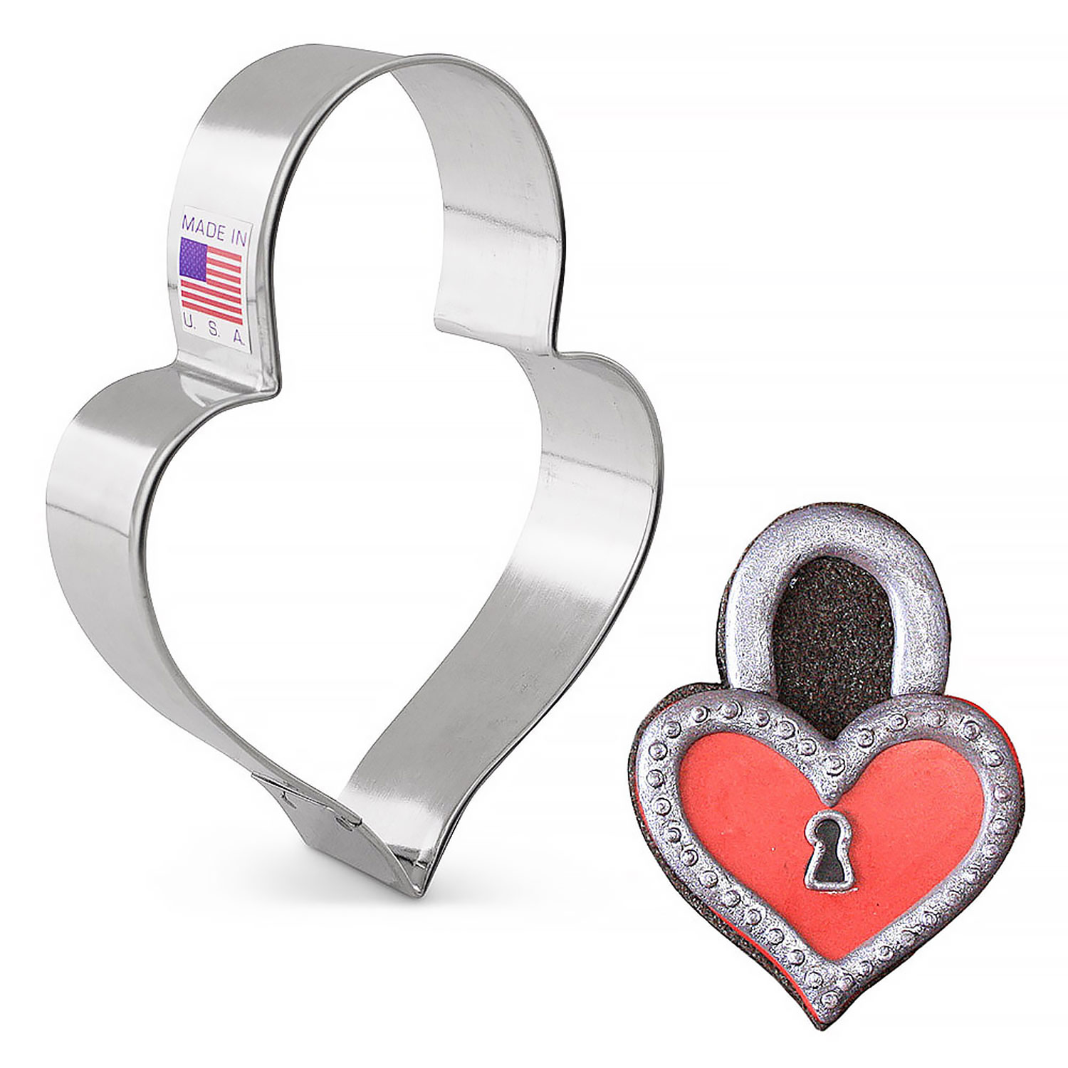 Padlock Heart Cookie Cutter by Lila Loa