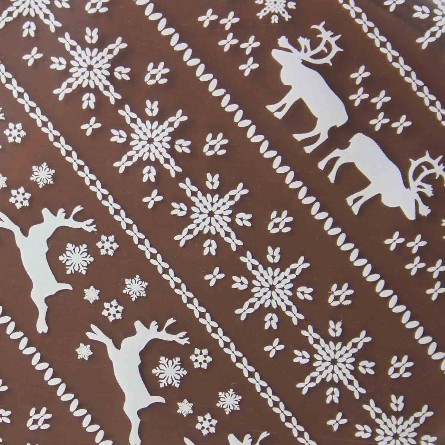 Chocolate Transfer Sheet - White Reindeer