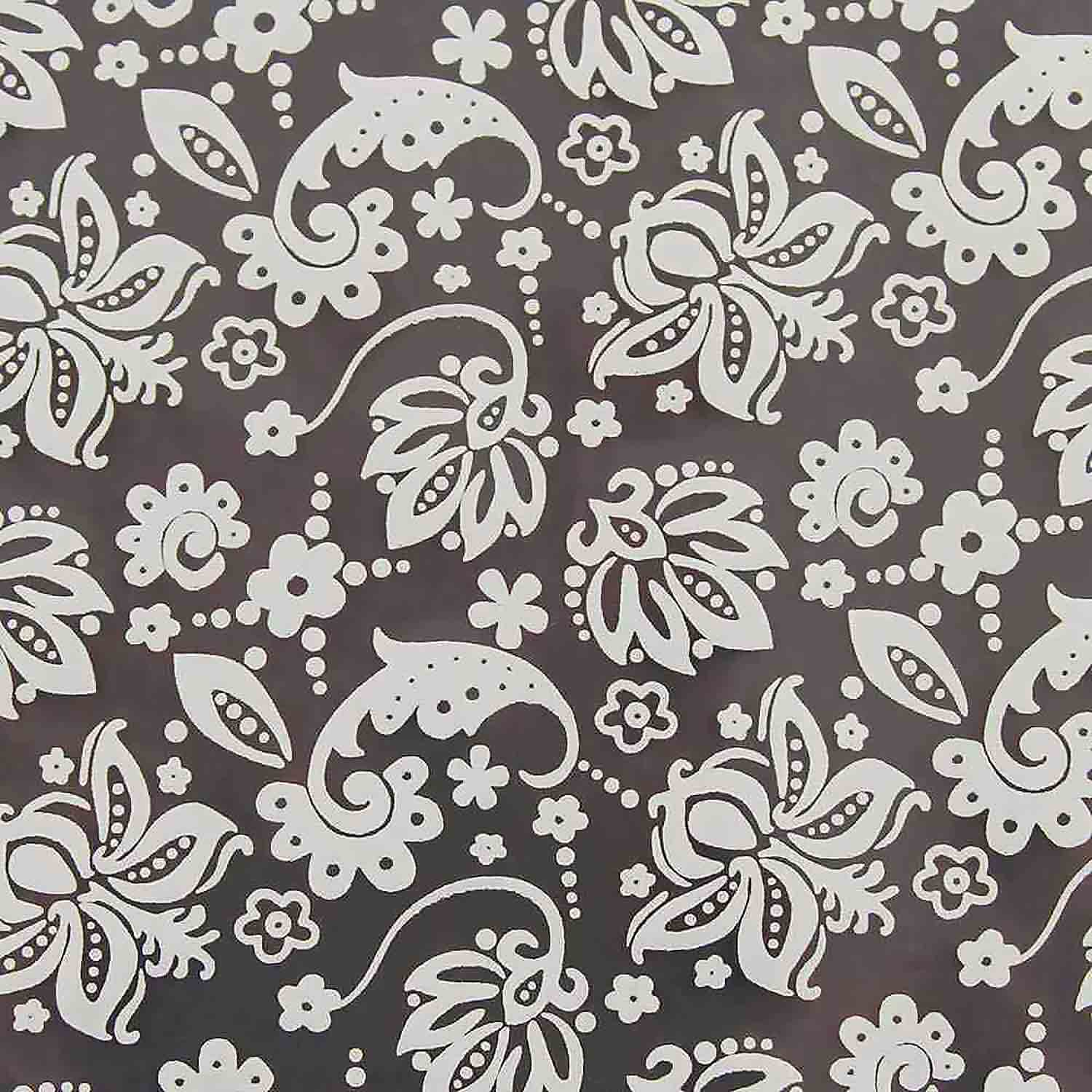 Chocolate Transfer Sheet - White Jacobean