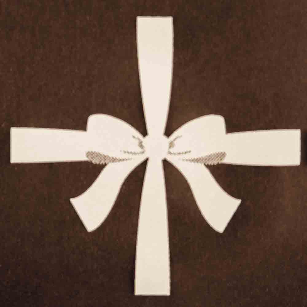Chocolate Transfer Sheet - White Cookie Bows