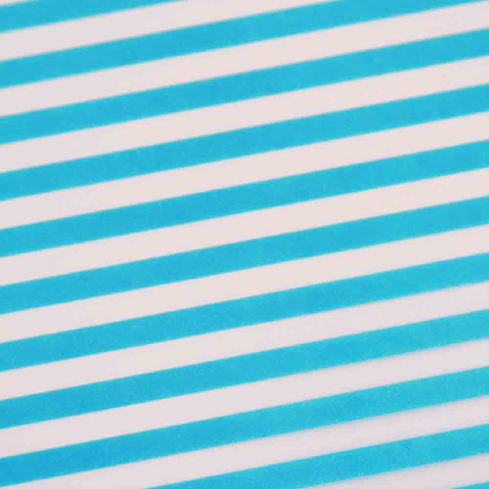 Chocolate Transfer Sheet - Blue Classic Stripe