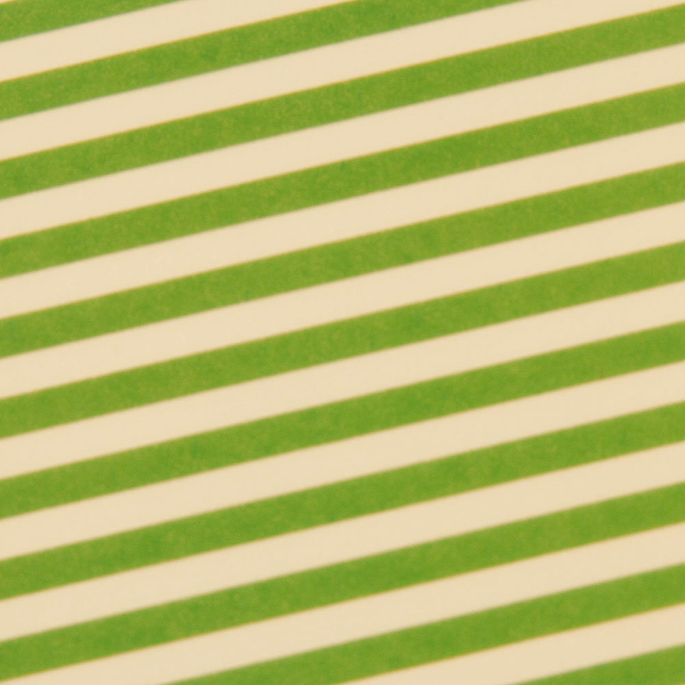 Chocolate Transfer Sheet - Lime Classic Stripe