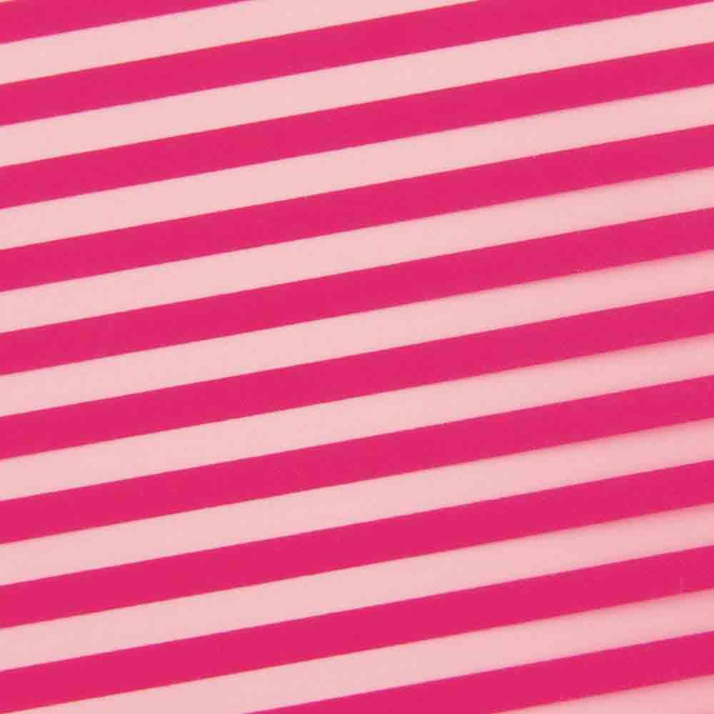 Chocolate Transfer Sheet - Raspberry Classic Stripe