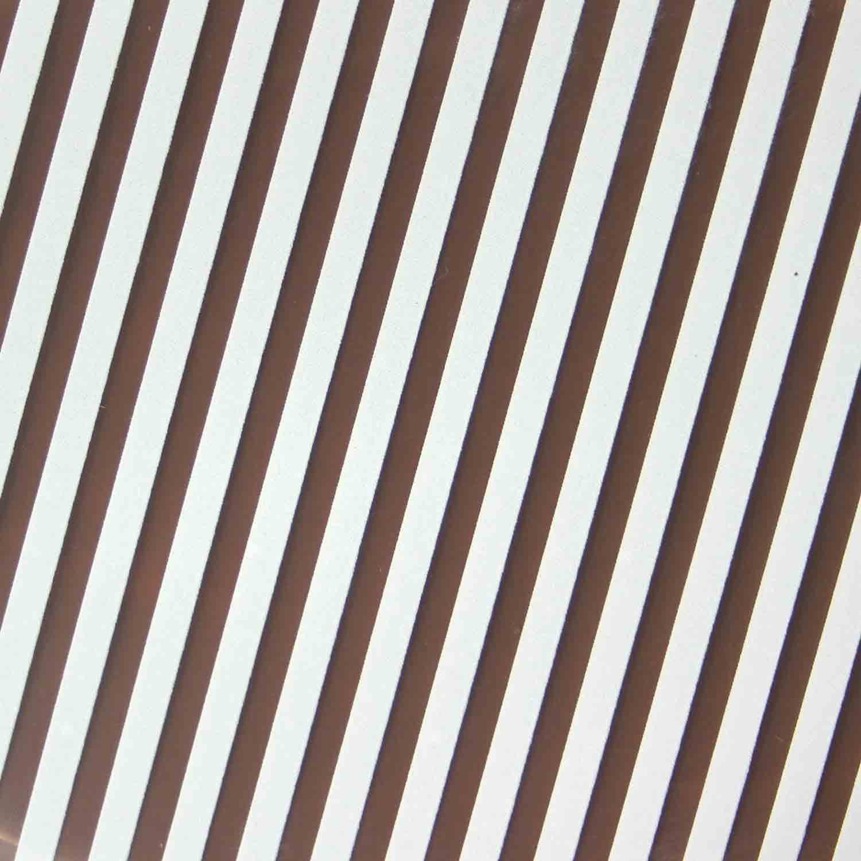 Chocolate Transfer Sheet - White Classic Stripe