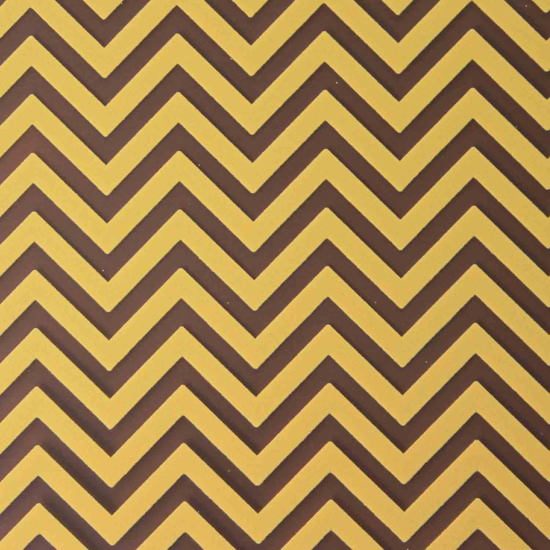 Chocolate Transfer Sheet - Gold Chevron