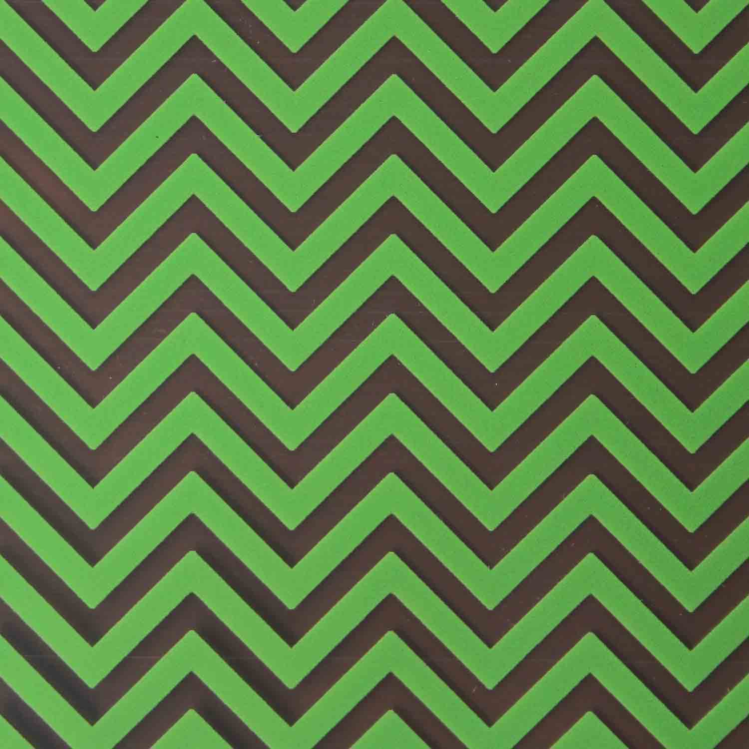 Chocolate Transfer Sheet - Lime Green Chevron