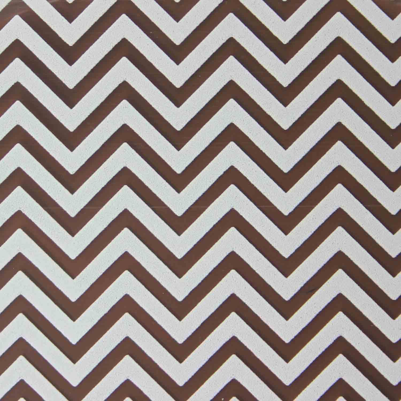 Chocolate Transfer Sheet - White Chevron