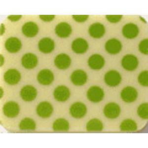 Chocolate Transfer Sheet - Lime Green Dots