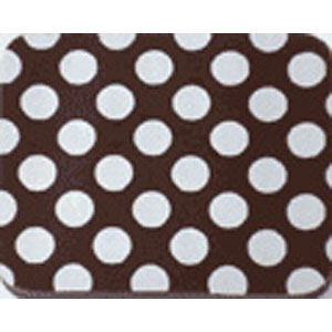 Chocolate Transfer Sheet - White Dots