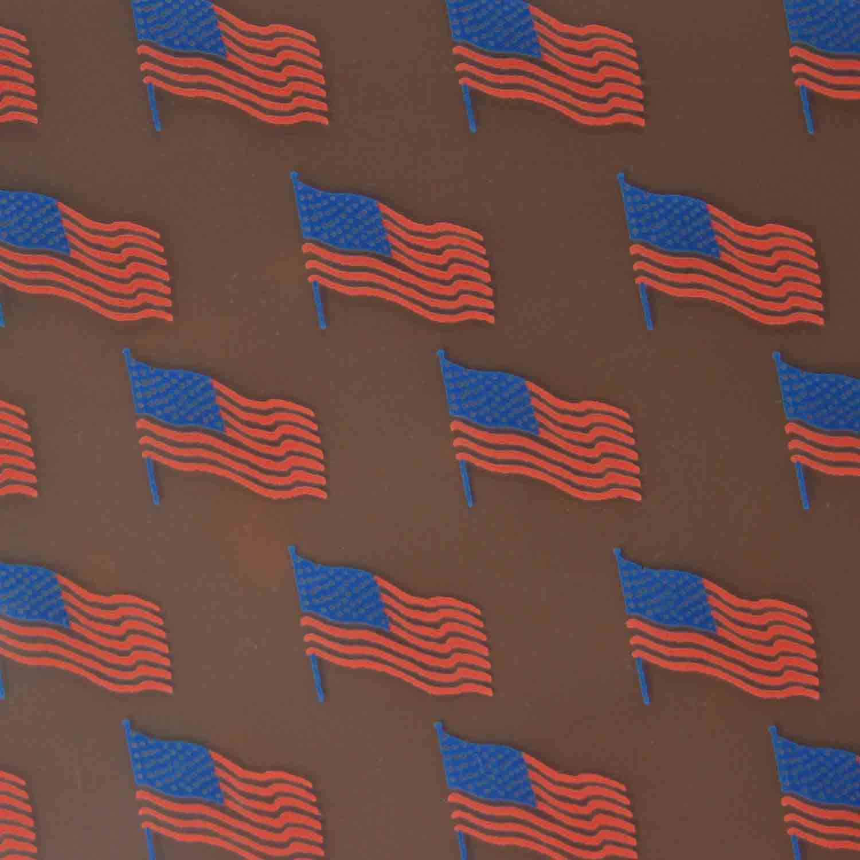 Chocolate Transfer Sheet - American Flag