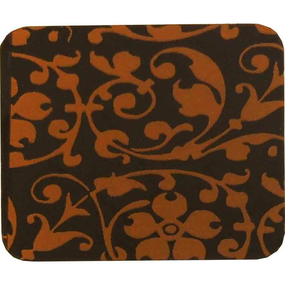Chocolate Transfer Sheet - Orange Floral Scroll