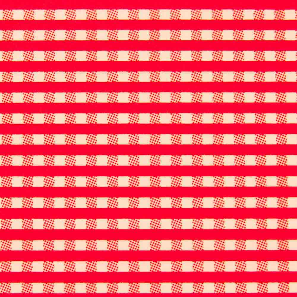Chocolate Transfer Sheet - Red Gingham