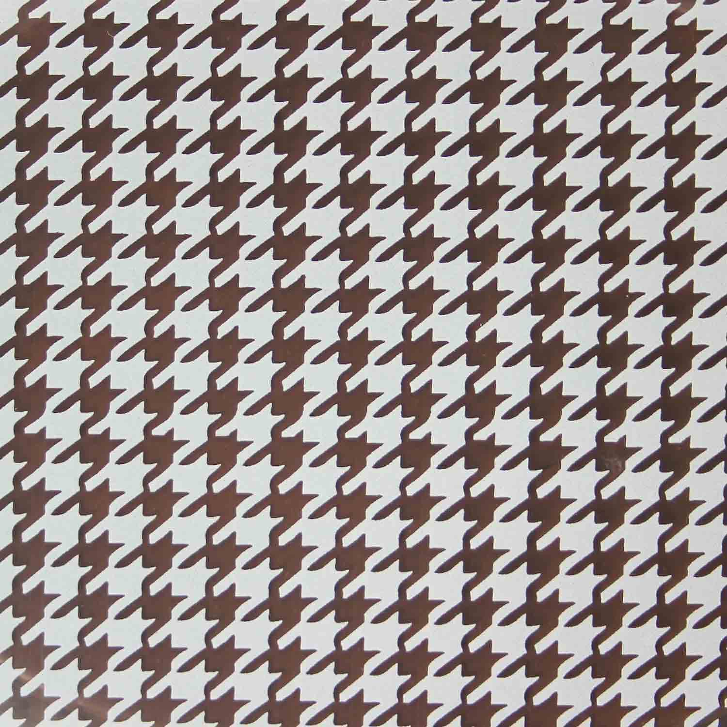 Chocolate Transfer Sheet - White Houndstooth