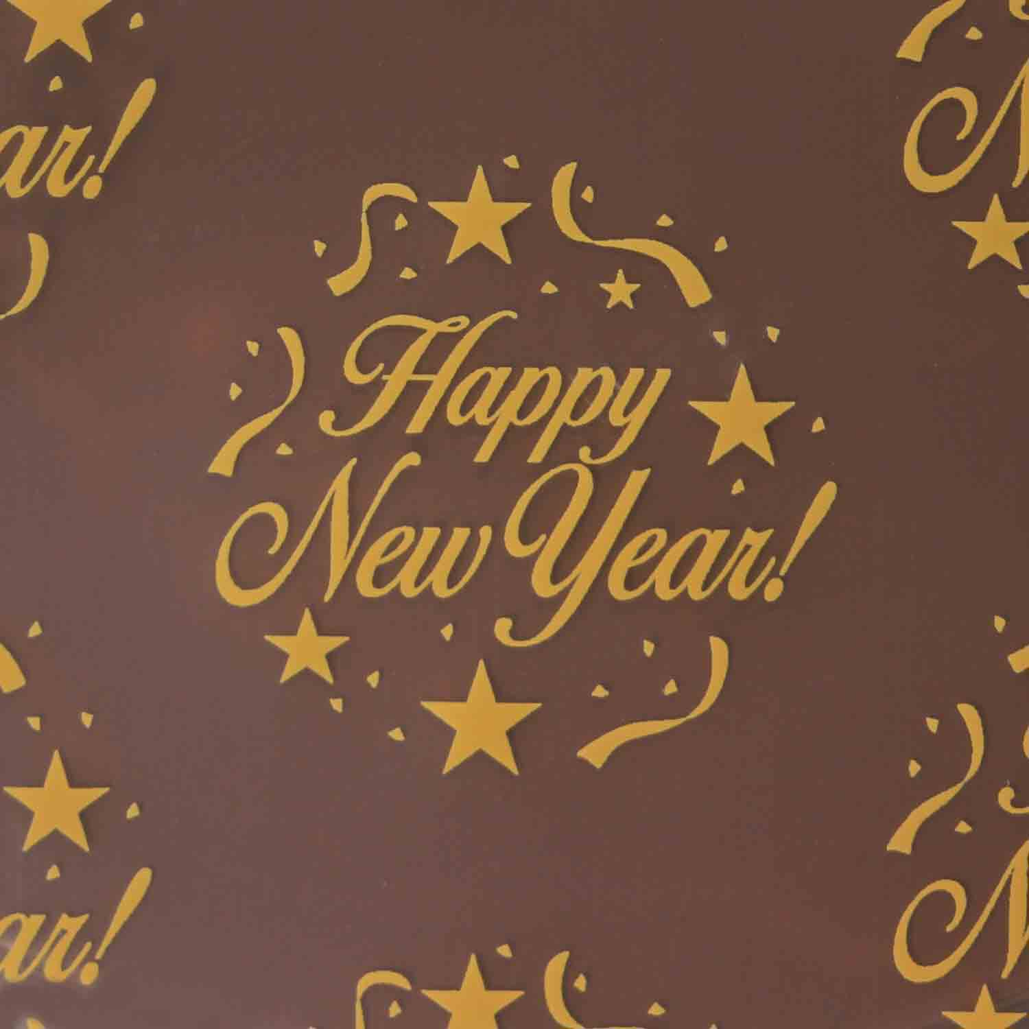 Chocolate Transfer Sheet - Happy New Year