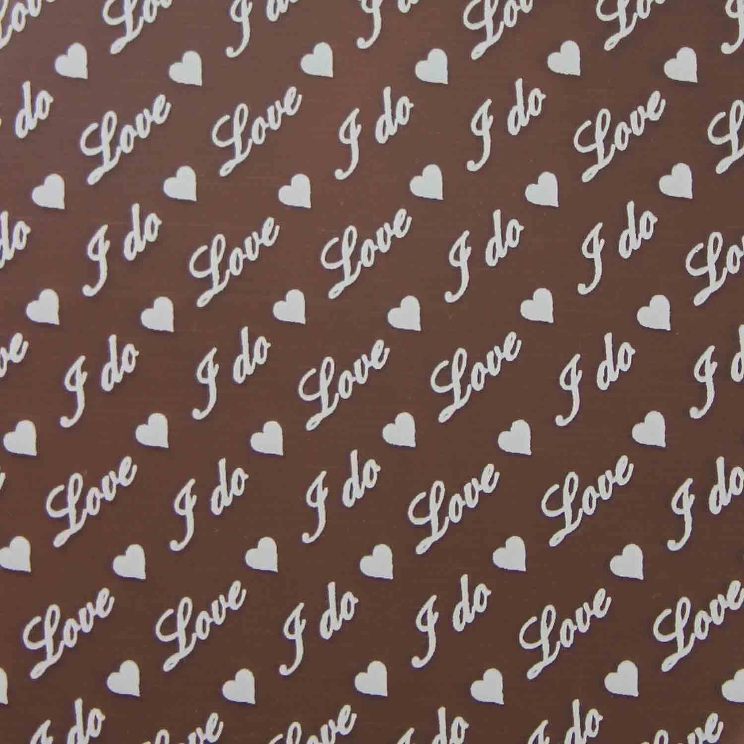 "Chocolate Transfer Sheet - ""I Do, Love"""
