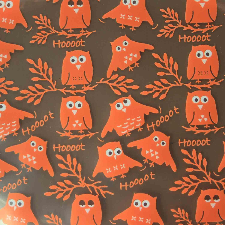 Chocolate Transfer Sheet - Owl