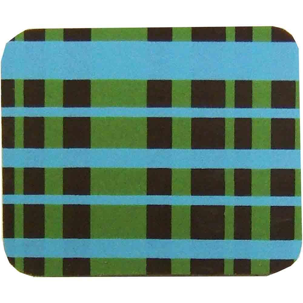 Chocolate Transfer Sheet - Blue and Lime Plaid