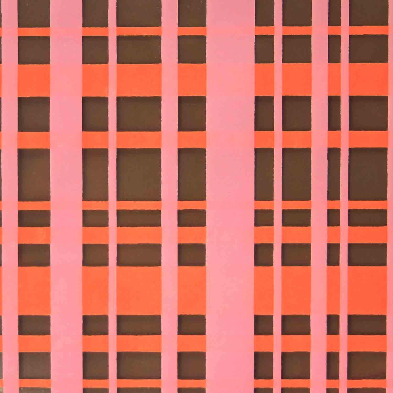 Chocolate Transfer Sheet - Orange Pink Plaid