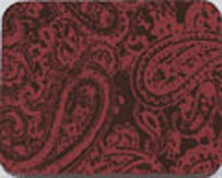 Chocolate Transfer Sheet - Paisley Red
