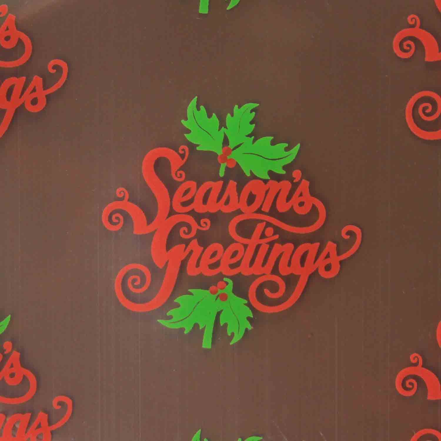Chocolate Transfer Sheet - Season's Greetings