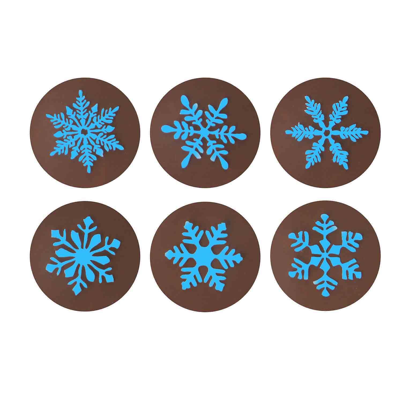 Chocolate Transfer Sheet - Snowflake Light Blue