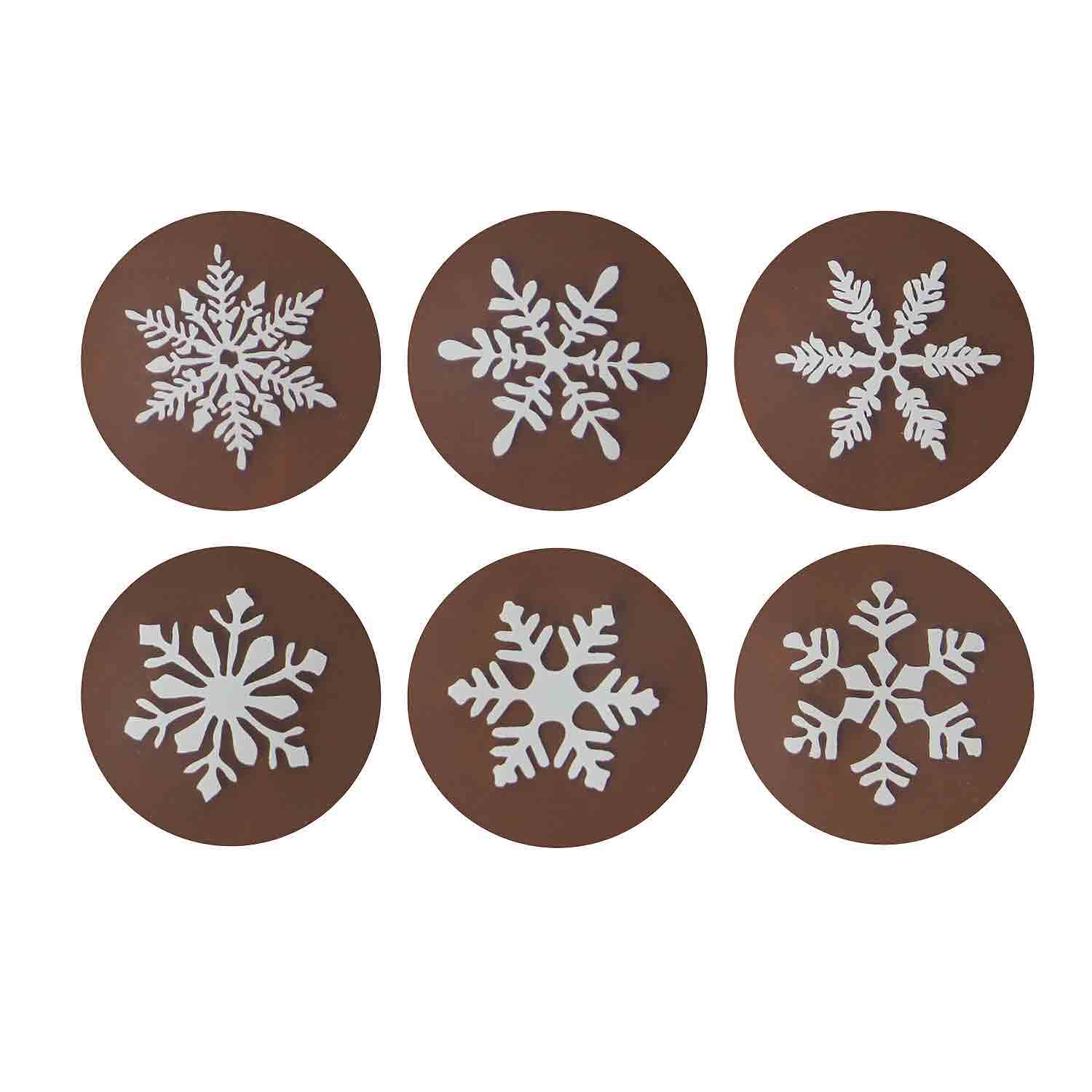 Chocolate Transfer Sheet - Snowflake White