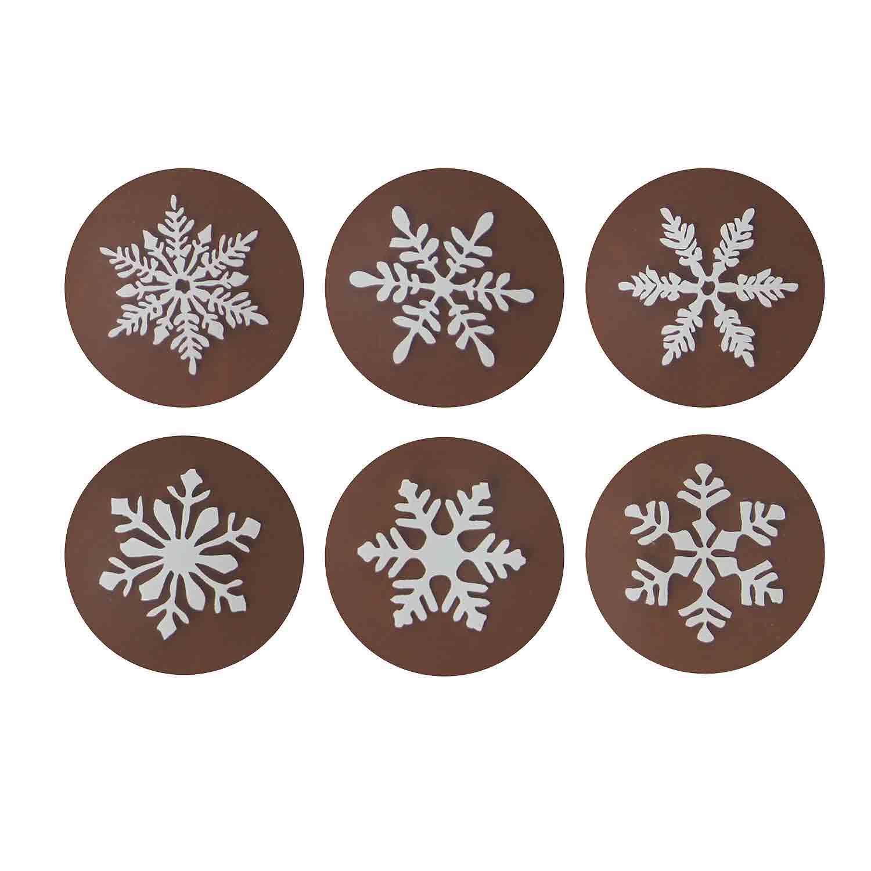 Chocolate Transfer Sheet - Snowflake White