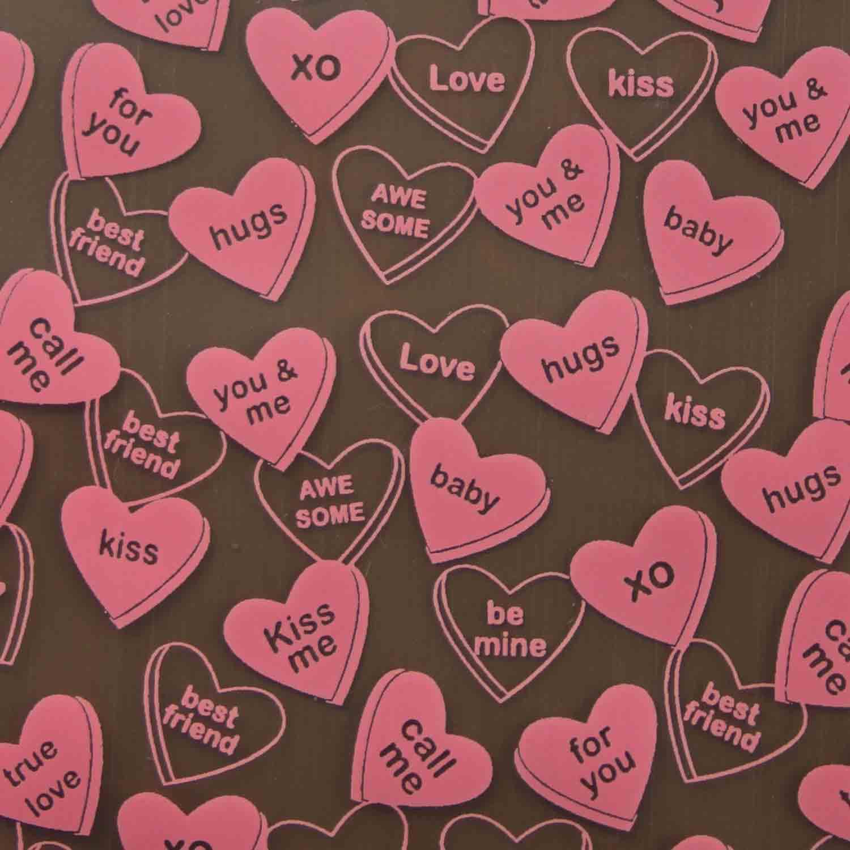 Chocolate Transfer Sheet - Sweet Talk