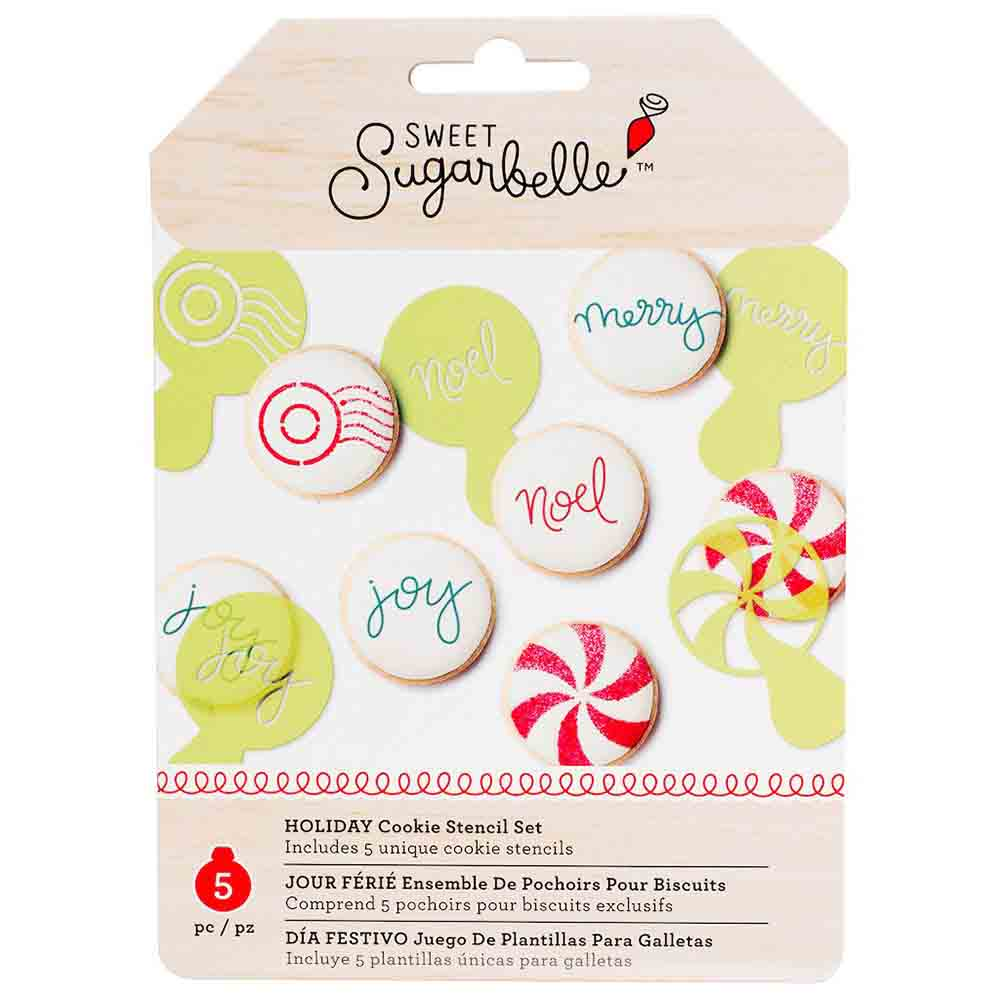Holiday Cookie Stencil Set by Sweet Sugarbelle