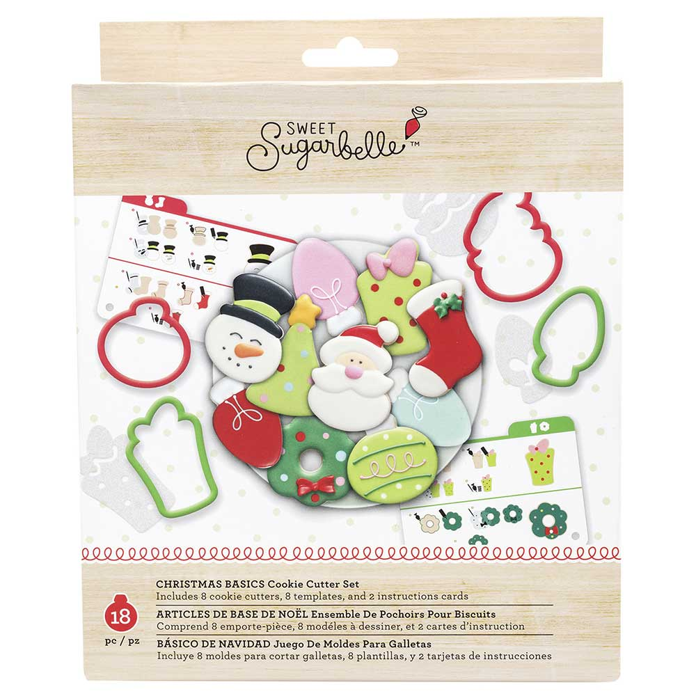 Christmas Basics Cookie Cutter Stencil Set by Sweet Sugarbelle
