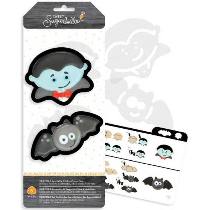 Dracula Cookie Cutter Stencil Set by Sweet Sugarbelle