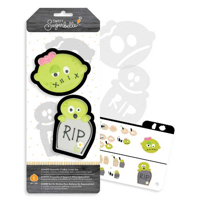 Zombie Cookie Cutter Stencil Set