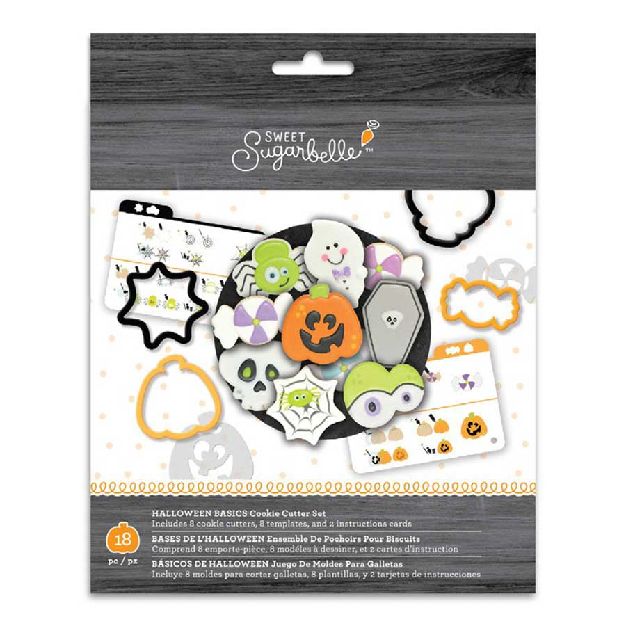 Halloween Basics Cookie Cutter Stencil Set by Sweet Sugarbelle