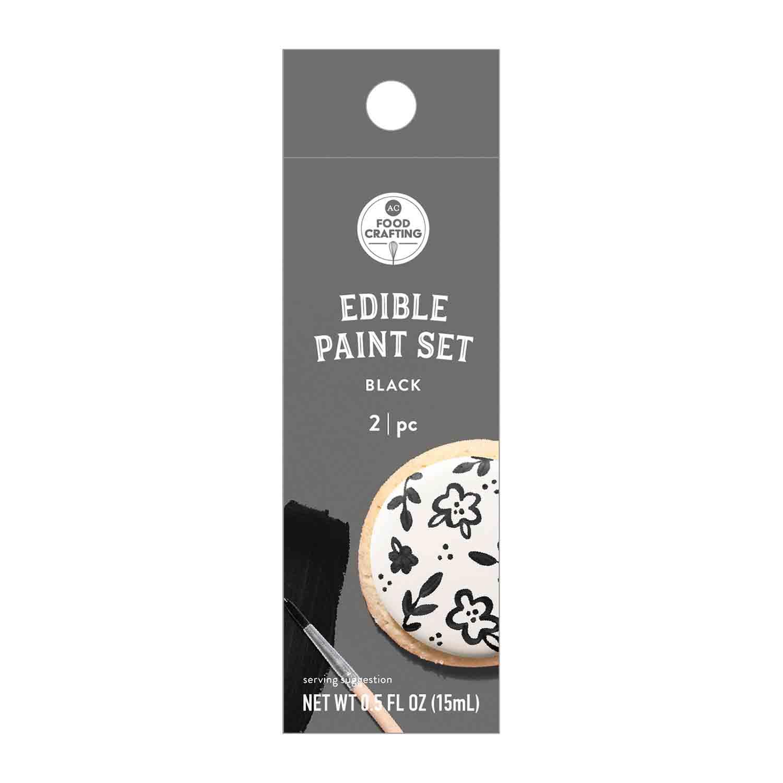 Black Edible Paint