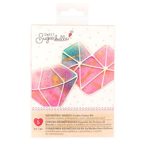 Geometric Hearts Cookie Cutter Set by Sweet Sugarbelle