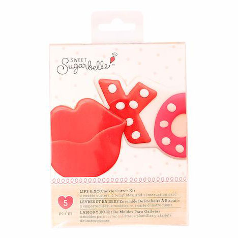 Lips & XO Cookie Cutter Set by Sweet Sugarbelle