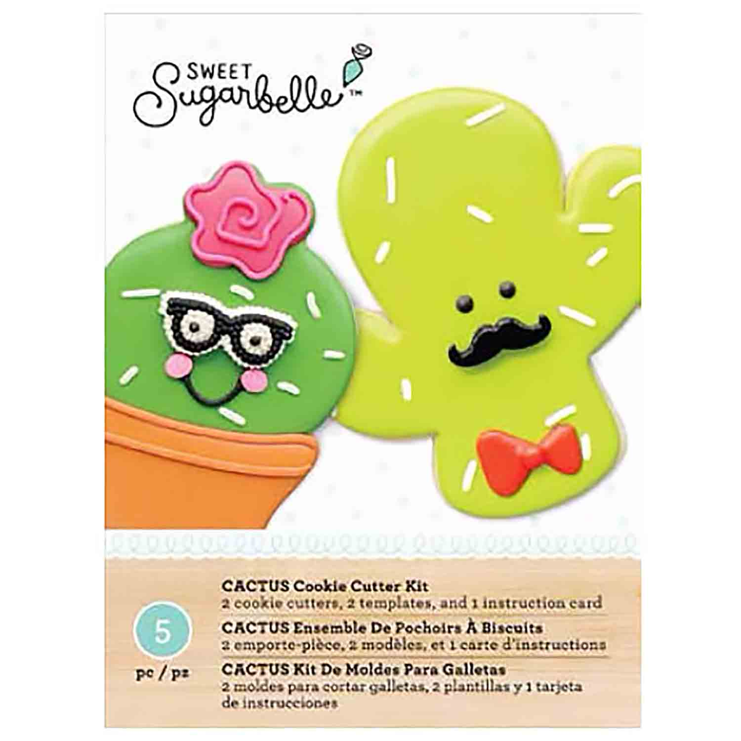 Cactus Cookie Cutter Stencil Set by Sweet Sugarbelle