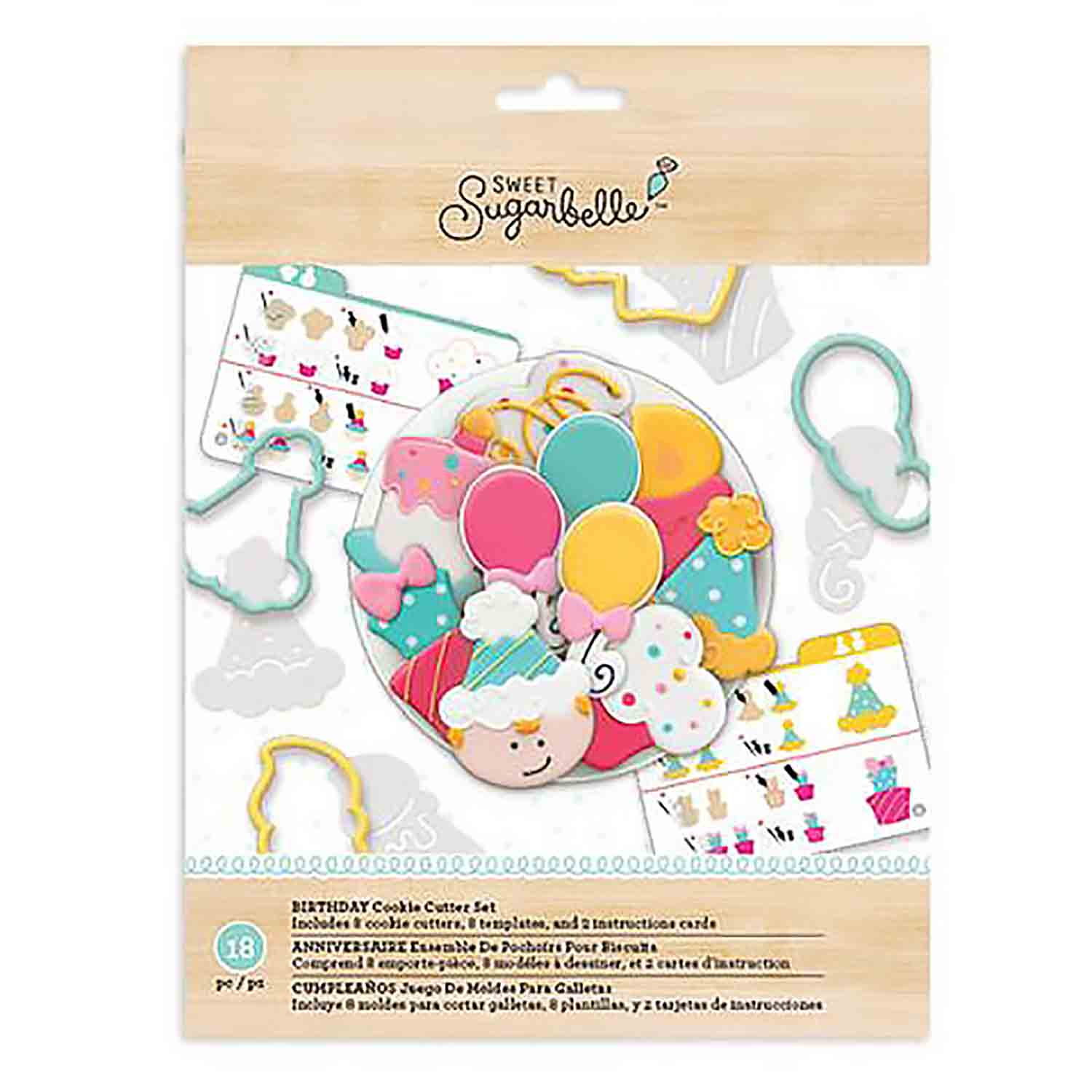 Birthday Cookie Cutter Stencil Set
